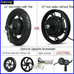 Electric Bicycle E-Bike Hub Motor Brushless Non Gear 12Inch 36V 48V 350With500W