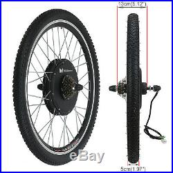 Electric Bicycle Rear Wheel Kit Conversion E Bike Motor 26 48V 1500W Motor Hub