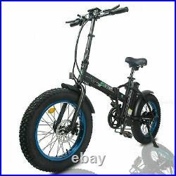 Electric Bike 48V 20 Fat Tires 500W Portable Folding LCD Road & Beach E-bike