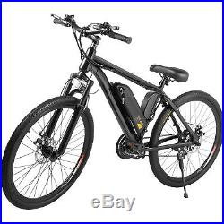 Electric Bike E-Bike Mountain Bicycle Cycling 26 7 Speed 250W Withphone holder