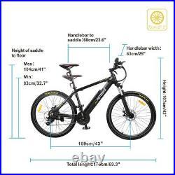 Electric Bike HOTEBIKE Mountain Bike 48V 500W 27.5inch eBike Hidden Battery