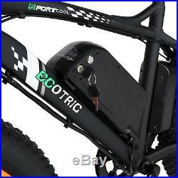 Electric Fat Tire Bike Beach Snow Bicycle City e-bike 36v 500w Black/Orange New