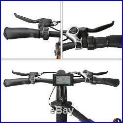 Electric Fat Tire Bike Beach Snow Bicycle Fatbike City e-bike 36v 500w Black