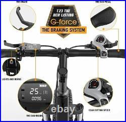 Electric Folding Bike Bicycle Ebike 26'' Fat Tire Sonw Beach Mountain Li-Battery