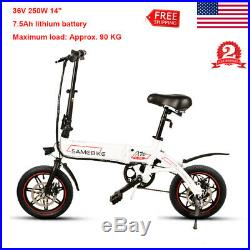 Electric Folding E-bike Electric Bike Collapsible Bicycle 36V 250W 14 tire US