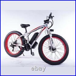 FAT TYRE ELECTRIC BIKE 26 1000W 48V 13Ah High power Mountain Ebike 21 SPEED