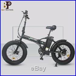 Folding 20 48V 13AH 500W Electric Fat Tire City E Bike Beach Bicycle Ebike LCD