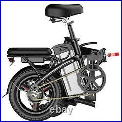 Folding 48V Electric FatTire City E Bike Beach Bicycle Ebike LCD