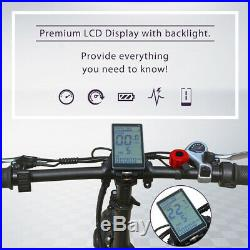 Folding Electric Bike 20 Mountain City E-Bike for Adult Fat Tire 500W 48V 12AH