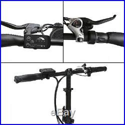 Folding Electric Fat Tire Bike Beach Bicycle City Ebike 20 36V 500W White/Blue