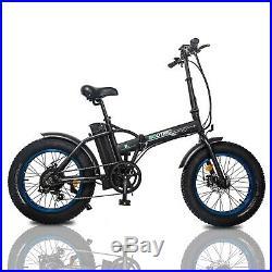 Folding Electric Fat Tire Bike Beach Bicycle City Ebike 20 48V 13AH 500W