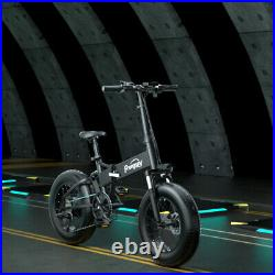 Freego EV 1000W Foldable Electric Bike 48V 4.0 20in Fat Tire Snow E-Folding Bike