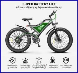 GLW 750W Electric Mountain Bike 48V Samsung Battery 264 Fat Tire E-Bike S18