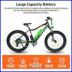 GLW S07-2 750W Electric Mountain Bicycle 48V/10.4A Li-Battery 26 Fat Tire Ebike