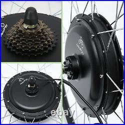 JauoPay 36V 750W Electric Bicycle Conversion Kit 26 EBike Rear Hub Motor Wheel