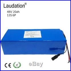 Laudation 48V 20AH Li-ion Battery Volt Rechargeable Bicycle 750W E Bike Electric