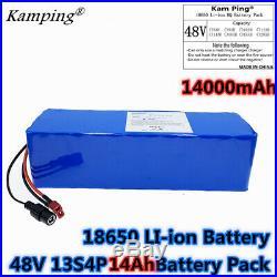 Li-ion Battery 48V 14AH Volt Rechargeable Bicycle 1000W E Bike Electric Li-ion