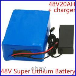 Li-ion Battery 48V 20AH Volt Rechargeable Bicycle 1200W E Bike Electric Li-ion