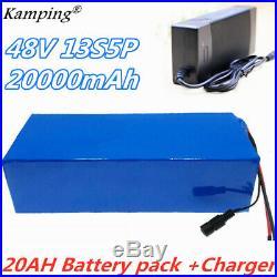 Li-ion Battery 48V 20AH Volt Rechargeable Bicycle 750W E Bike Electric Li-ion