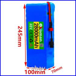 Li-ion Battery 48V 28AH Volt Rechargeable Bicycle 1000W E Bike Electric Li-ion