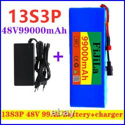 Li-ion Volt 48V 99Ah Rechargeable Electric E Bike 1000W Battery Bicycle scooter
