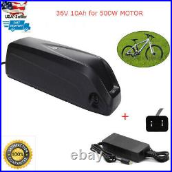Lithium Battery With Charger for Electric Ebike Bicycle 36V 10Ah 350With500W USA