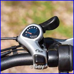 MaxFoot MF-17 P Electric Bicycle 750W 26 Step-thru Cruiser Commuter E-Bike Cyan