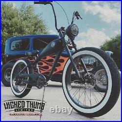 McQueen 750w BLVD Orange E-Bike Beach Cruiser Electric Bicycle Bike 48V Ebike