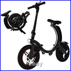 Mighty Max Folding Electric Bike Lightweight Electric Bicycle, Ebike with Quick