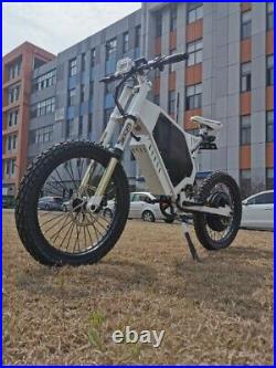 Mountain EBike 72v 5000w full suspension best e bikes 2020 50mph! Moto seat
