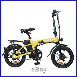 NAKTO 16'' Folding Electric Bike 250W Ebike 36V 10Ah Collapsible Moped Bicycle