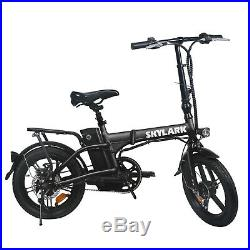 NAKTO 16/'/' Folding Electric Bike 250W Ebike 36V 10Ah Collapsible Moped Bicycle