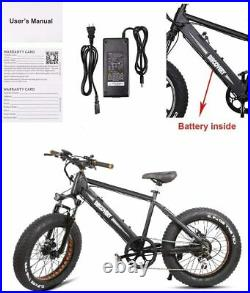 NAKTO 20 350W48V8AH Fat Tire Electric Bike for Adults SnowithMountain E-bike