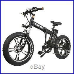 Nakto 20 Folding Electric Bicycle Fat Tire E-Bike Mini Cruiser 350W 48V MOTOR