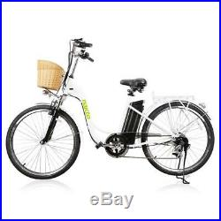 Nakto 26 250W City Electric Bicycle 6 Speed Gear Ebike 36V10A Lithium Battery