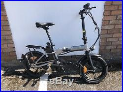 Nakto Folding E-Bike City Folder 36V Electric Bike 16 Bicycle White Colour