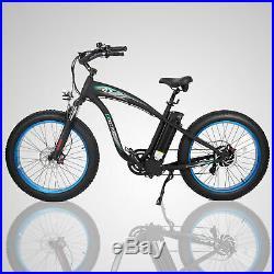 New 1000W Hammer Electric Fat Tire Bike Beach Snow City Road Bicycle Ebike Blue