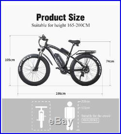 New 26 Electric 1000w 48v Bicycle Fat tire suvs Mountain ebike Adult Moped Bike