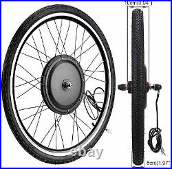 New 26 Electric Bicycle Rear Wheel Ebike Motor Conversion Kit 48V 1000With1500W