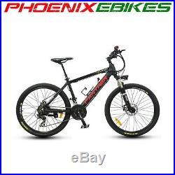 New! Black PANTHER Electric Mountain EBike HIDDEN 36volt 9ah Battery 21 Speed