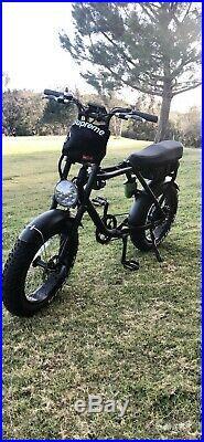 New Electric Urban Retro Cruiser Bike 1000W 48V Fat Tire e-Bike Super Spec 7gear