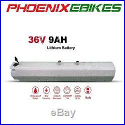 New! White COUGAR Electric Mountain EBike HIDDEN 36volt 9ah Battery 21 Speed
