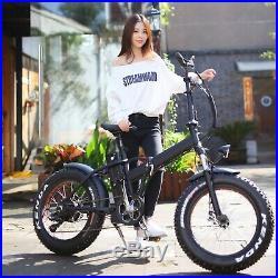 Niubo 1000w Fat Tire Folding 20in Electric Bicycle Ebike NEW