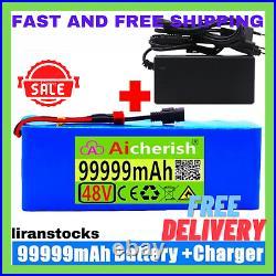 Original 48v 99ah Li-ion Battery Volt Rechargeable Bicycle 1000w E-bike Electric