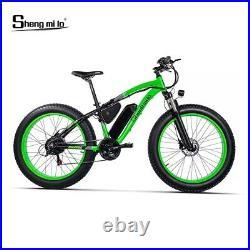 RichBit 1000W 48V 17AH 7Speed Electric Cruiser Fat Bike Ebike 26'' 4.0 Tire