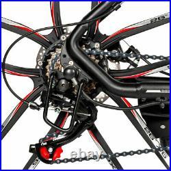 SAMEBIKE 26 Electric Commuting Mountain Bike Bicycle Smart Moped E-Bike Black