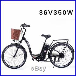 SOHOO 36V350W10AH 26 Electric Bicycle City E-Bike Mountain Bike (Color Black)