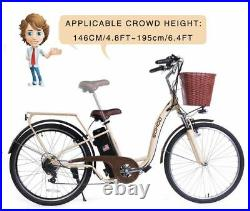 SOHOO 36V350W10AH 26 Electric Bicycle City E-Bike Mountain Bike (Color Cream)