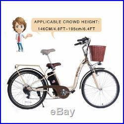 SOHOO 36V350W10AH 26 Electric Bicycle City EBike Mountion Bike (Color Cream)