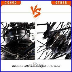 SOHOO 48V500W10Ah EBike 20 Folding Fat Tire Electric Bicycle (Color Black)